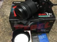 I am selling a lightly used Canon T4i DSLR with