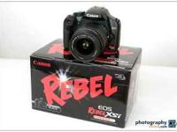 Great Canon eos rebel XSi camera with 18-55mm 3.5-5.6