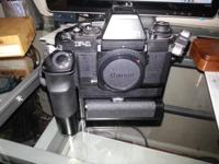 I have a Canon F1 with AE finder, AE Motor drive FN and