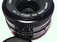 Canon Lens FD 50mm 1:1.8 (normal lens) in excellent