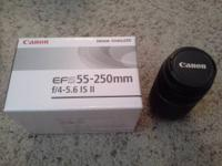 I have two used Canon lenses for sale, both in