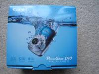 I have for sale a Canon Power Shot D10 digital camera.