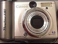 Canon PowerShot A80 4.0 MP Digital Camera - Silver for
