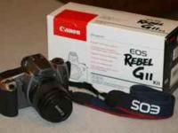 Canon Rebel Gll Camera with a Canon 35-80mm lens. Built