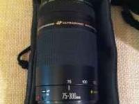 Canon Rebel XT with 75-300 mm lens great condition with