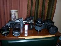 Have a canon T70 and EOS 750QD 35 mm cameras and