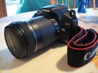 A like new Canon T1i 500D camera with Canon 18-135