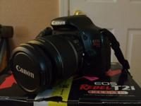 I am selling my Canon T2i DSLR camera. Camera was used