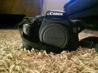 Selling a use Canon T3i with all initial parts and 5