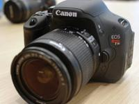 Barely used Canon T3i in Black. Comes with 2 lenses.