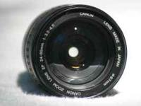 For DSLR. Used Canon zoom lens. Auto & manual focus.