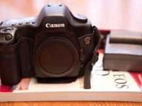 "Canon 5D body plus charger, two batteries, and ""Canon"