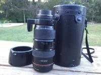 I am selling my Canon 80-200mm L lens in good