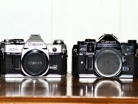 I have two classic Canon film cameras available. These
