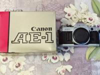 Everything $40.  Canon AE 1 35mm SLR Camera Body