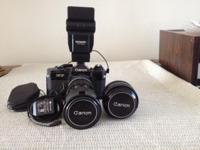 Mint. Circa 1975 camera with Two exceptional lens with