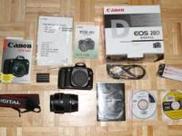 Included for sale is a Canon EOS 20D 8.2 mp body and a