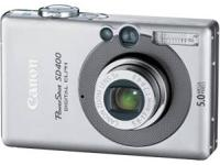 Used Canon Powershot SD400 5MP Digital Elph Camera with