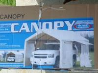 Canopy 10' X 20' Steel Frame With Side Panels New in