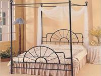 Canopy bed frame just for sale! Great condition! Black