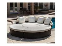 This Cabana Canopy Wicker Lounge 4-Piece Round Sofa