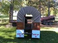 Canvas Covered Wagon. Wagon is 10 feet long inside and