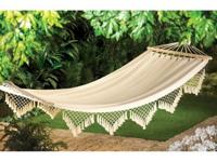 Dreaming of the seaside? Let our comfy canvas hammock
