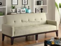 This casual styled Sofa Bed by Coaster is covered in a