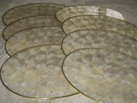 SET OF 8 CAPIZ SHELL OVAL PLACE MATS Handcrafted,