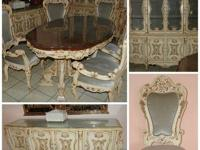 The Dining Room Set Consists of 11 pieces; 1 Table, 6