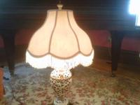 Exquisite multi-colored hand painted porcelain lamp