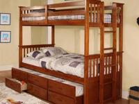BRAND NEW STILL IN BOX. THIS BUNK BED CONVERTS INTO 2
