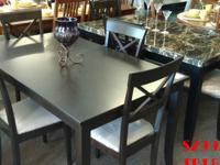 CAPPUCCINO DINING TABLE + 4 CHAIRS ONLY $299.99 + TAX