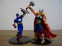 Captain America and Thor collectible figurines for sale