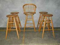 "Captains Chair and Stools are Oak - 30"" tall - Captains"