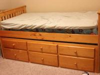 400 bucks OBO. excellent condition. ?Captains Bed Twin