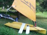 Howdy.  I am selling my Escape sailboat and trailer.  I