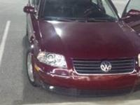 2003 MAROON COLORED VW PASSAT GLX-V6,-DOHC WITH ONLY