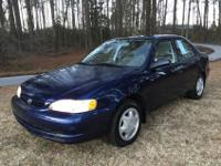 SUPER CLEAN GAS SAVER TOYOTA COROLLA. CLEAN TITLE AND