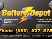RECONDITIONED (TRUCK AND CAR)... Batteries $ 25 w / 6