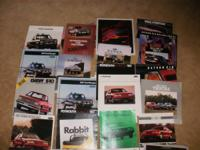 Lot of approximately 50 car brochures  mostly from the