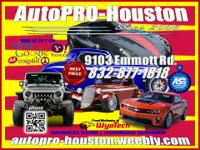 Tired of High Priced REPAIRS ( call AutoProHouston @ )