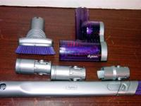 Used in good shape is a car cleaning kit for Dyson