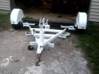 great old car dolly, has a swivel container, needs