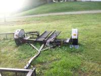"Tow it All car dolly 78"" wide and pivots. New lamps and"