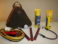 Car Emergency Kit includes: * Bag with reflective