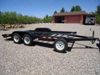 Car Hauler, 16' 7000# All steel dovetail with ramps, 4