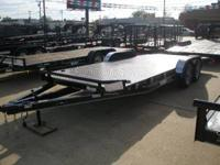 "New Kearney 83""x20' Metal floor car hauler for sale."