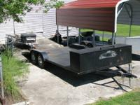 This trailer was custom built and is heavy duty. The