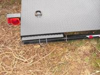 Solid Diamond plated Car Hauler trailer 7ft x 18ft with